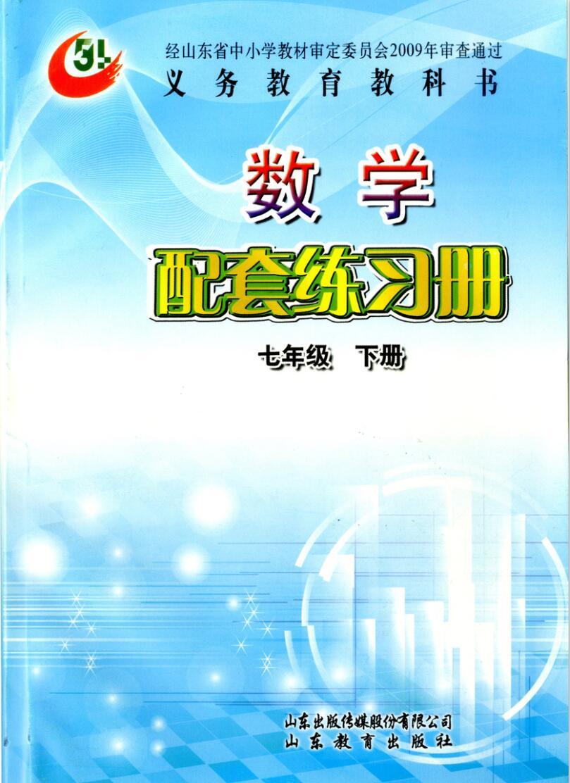 (五四)数学配套练习册 (七年级下册)